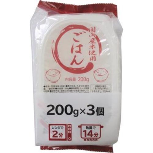 T・JP秋田 国内産米使用ご飯 200g×3P