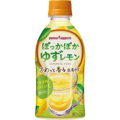 ポッカサッポロフード ぽっかぽかゆずレモン P350ml