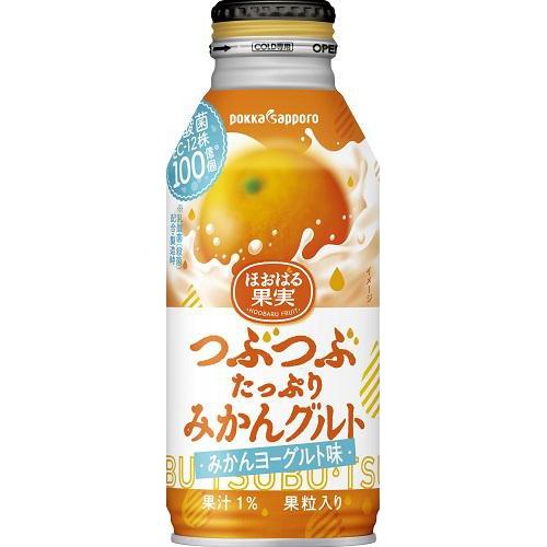 ポッカサッポロフード つぶつぶたっぷりみかんグルトB缶380g【10/11 新商品】