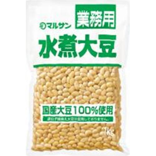 マルサンアイ 国産水煮大豆 袋1kg業務用