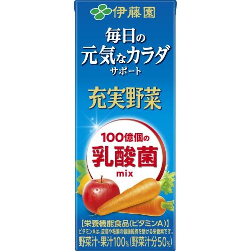 伊藤園 充実野菜乳酸菌ミックス 紙200ml