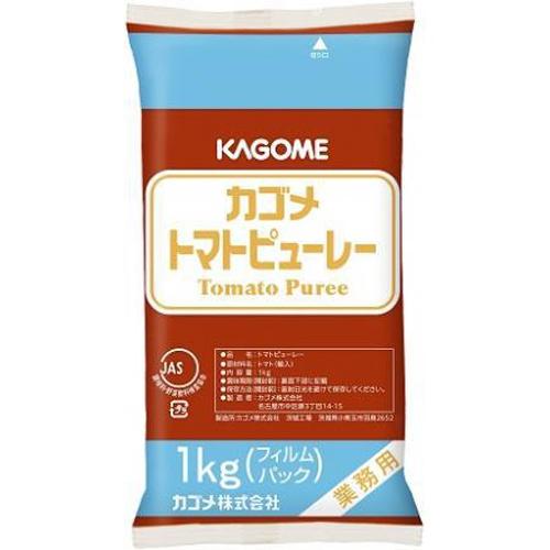 カゴメ トマトピューレーフィルムパック1kg業務用【10/08 新商品】