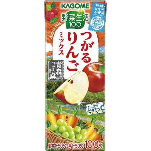カゴメ 野菜生活 つがるりんごミックス紙195ml【10/12 新商品】