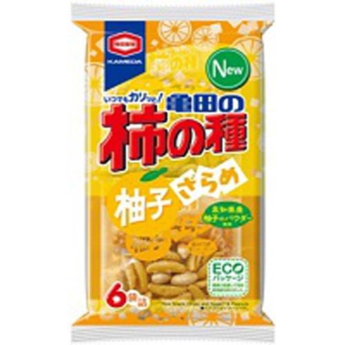 亀田製菓 柿の種柚子ざらめ6袋詰 131g【10/04 新商品】