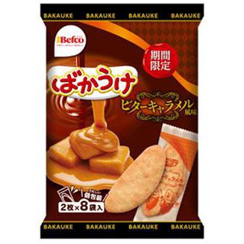 栗山米菓 ばかうけビターキャラメル風味 2枚×8袋