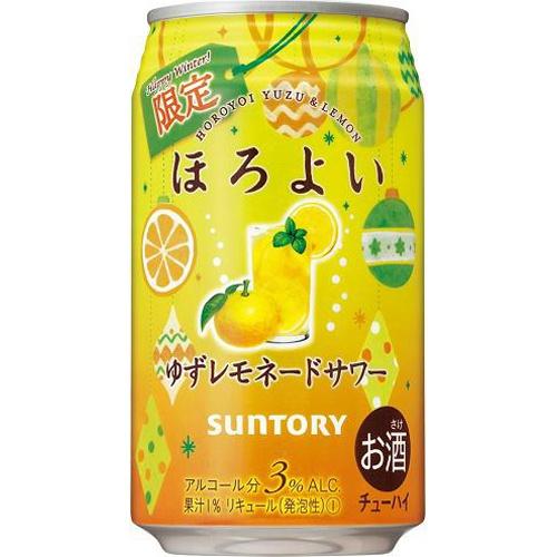 サントリーフーズ ほろよい ゆずレモネードサワー350ml【12/14 新商品】