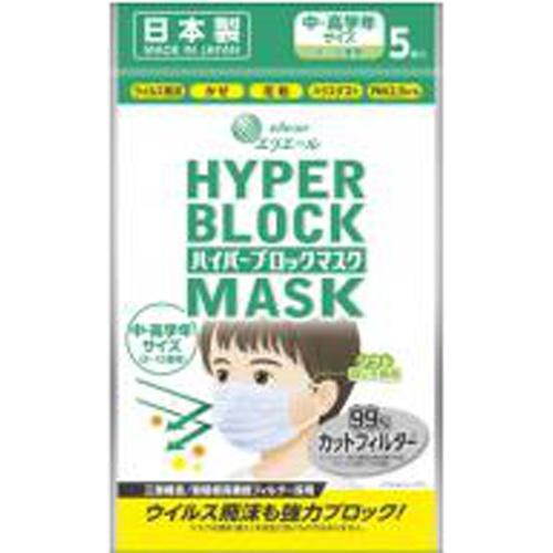 ハイパーブロックマスク ジュニアサイズ 20枚【10/01 新商品】