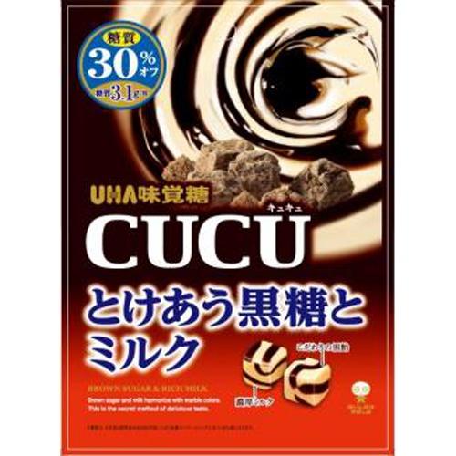 味覚糖 CUCU とけあう黒糖とミルク80g