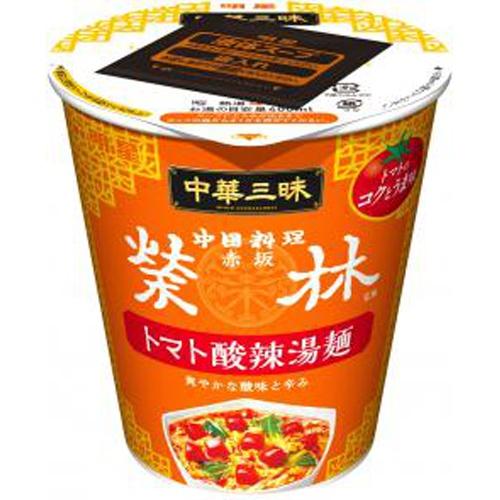 明星 中華三昧タテ型ビッグ赤坂榮林 トマト酸辣湯麺【10/04 新商品】