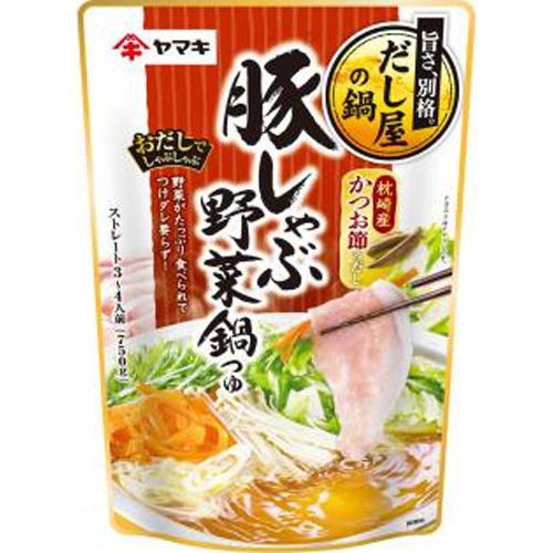 ヤマキ 豚しゃぶ野菜鍋つゆ かつお750g