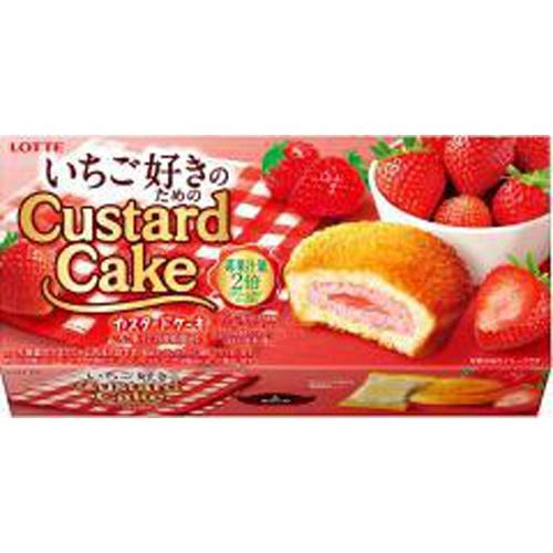 ロッテ いちご好きのためのカスタードケーキ 6個【11/23 新商品】