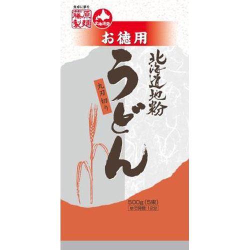 藤原 お徳用北海道地粉うどん 100g×5